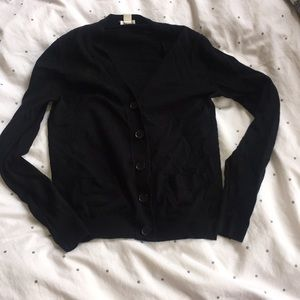 J. Crew black cardigan with front pockets size S